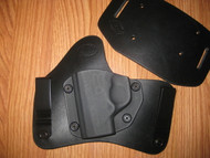 KAHR OWB Kydex/Leather Hybrid Holster with adjustable retention