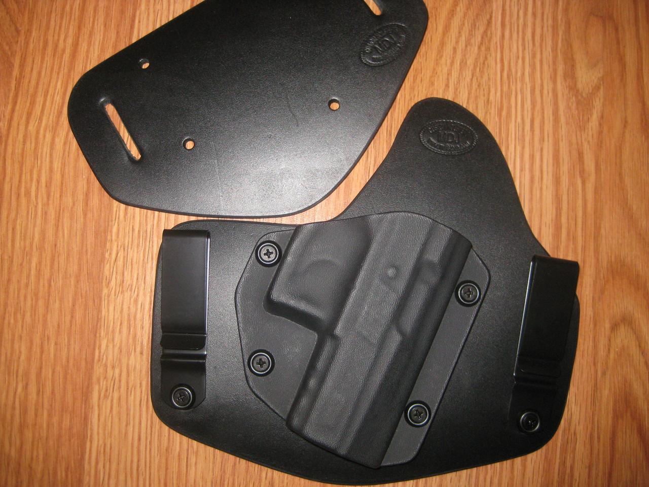 KIMBER IWB/OWB standard hybrid leather\Kydex Holster (Adjustable retention)