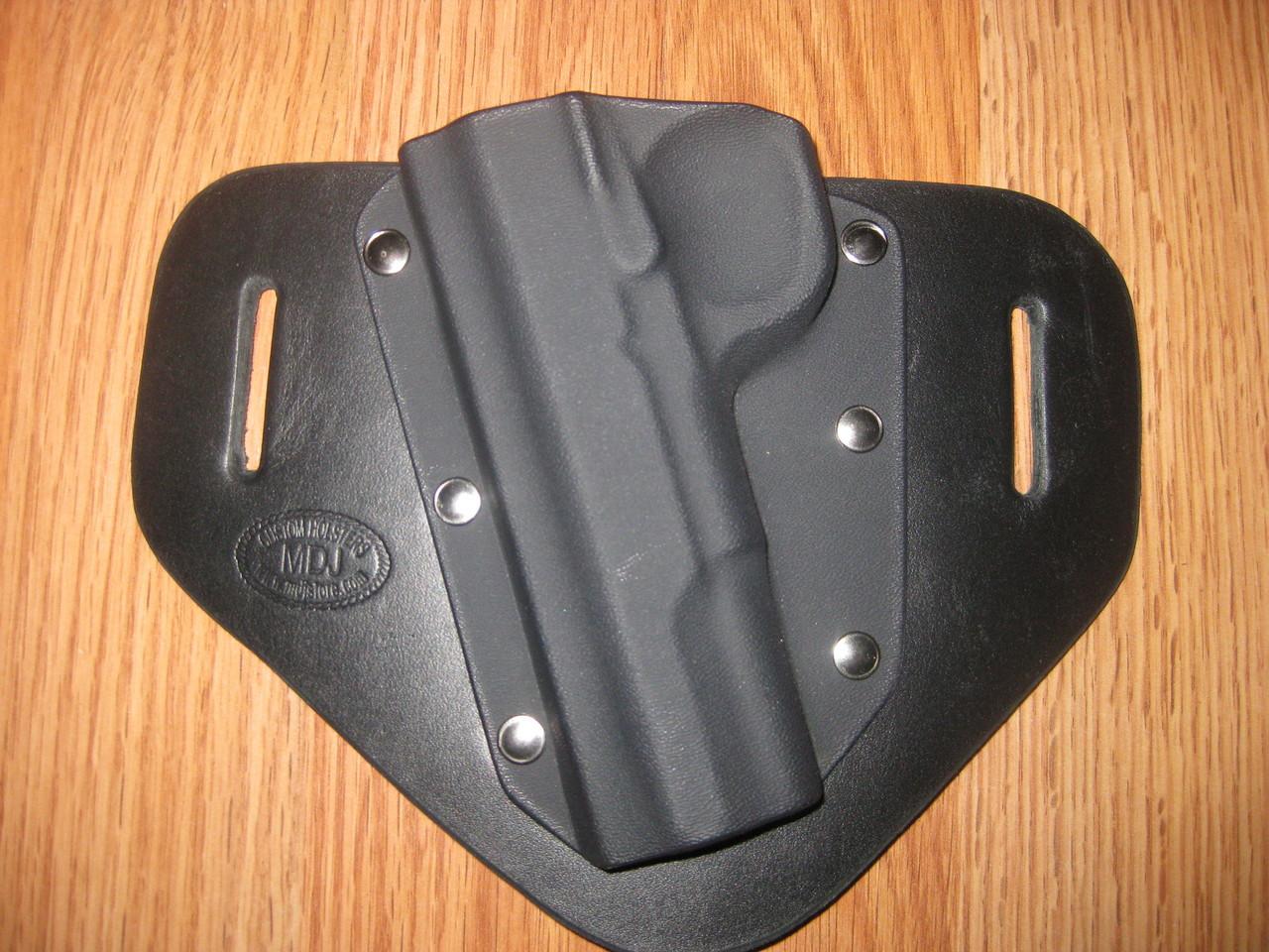 KELTEC OWB standard hybrid leather\Kydex Holster (fixed retention)