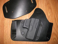 Glock IWB/OWB combo Kydex/Leather Hybrid Holster with adjustable retention