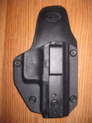 IWB Kydex/Leather Hybrid Holster small print with adjustable retention