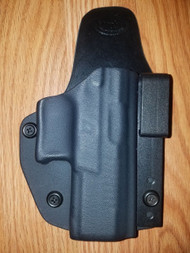 KAHR AIWB Kydex/Leather Hybrid Holster small print with adjustable retention
