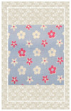 Vintage doll scaled floral border print