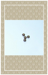 Antique brass beads for doll buttons