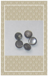 Vintage doll scaled taupe mother of pearl buttons