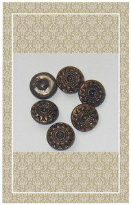 Antique doll scaled brass buttons