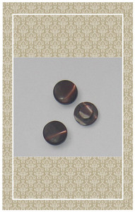 Vintage doll scaled brown mother of pearl buttons