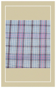 Pink and blue Victorian coll scaled plaid