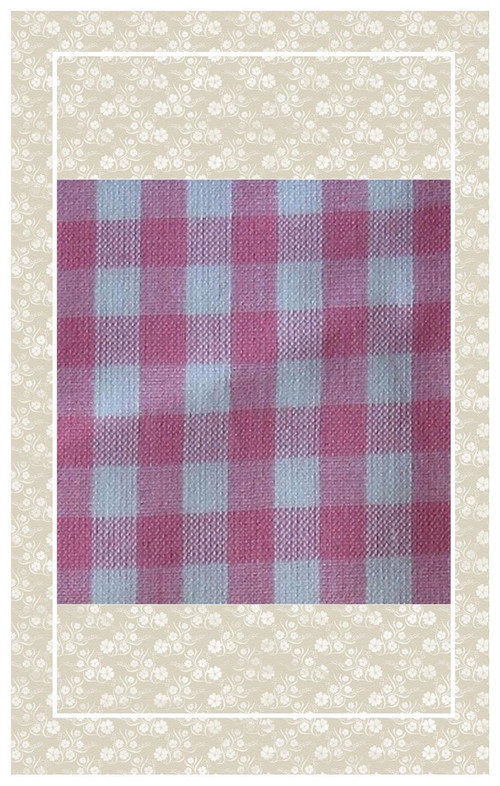 Pink and white doll scaled gingham
