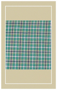 Vintage green doll scaled plaid