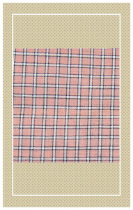 Antique peach and black doll scaled plaid