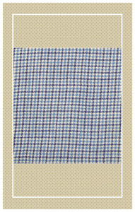 Vintage blue doll scaled cotton plaid