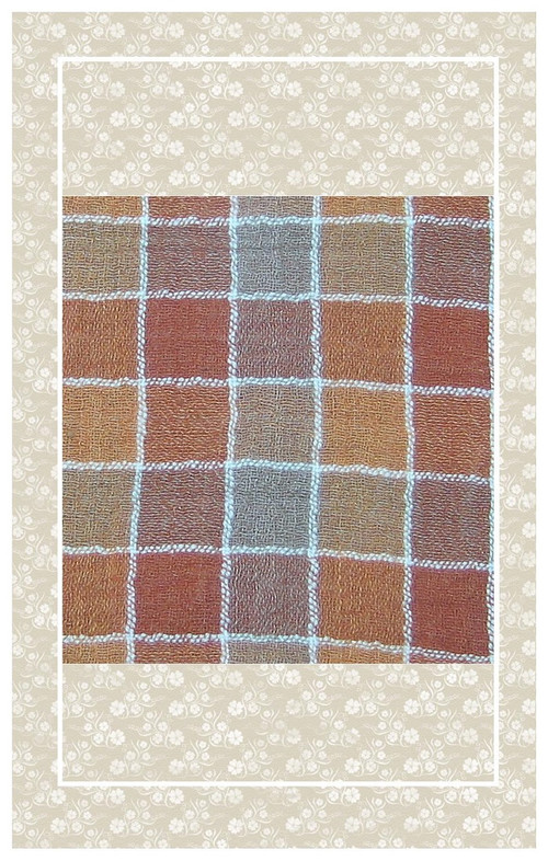 Beautiful vintage plaid guaze perfectly scaled for dolls