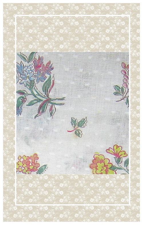 Vintage dotted Swiss floral perfect for dolls