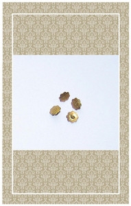 Vintage doll scaled brass flower buttons