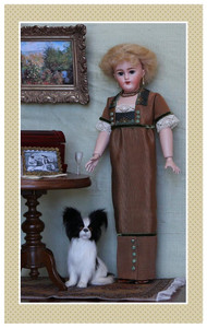 """The trim as it appeared in the Winter 2013 issue of Doll News.  The doll shown is 12"""" tall."""