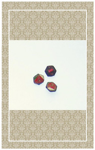 Tiny glass Art Deco buttons perfect for dolls