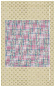 Doll scaled crisp pink vintage plaid