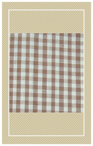 Vintage brown doll scaled gingham