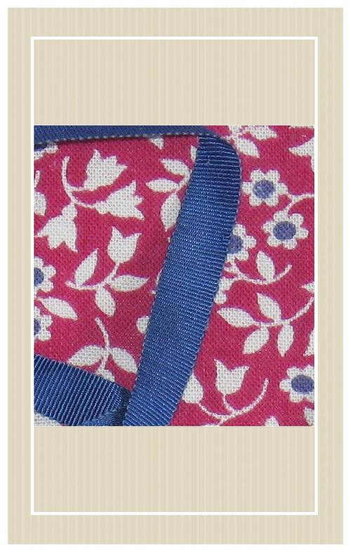 Cranberry with navy doll sized sewing kit