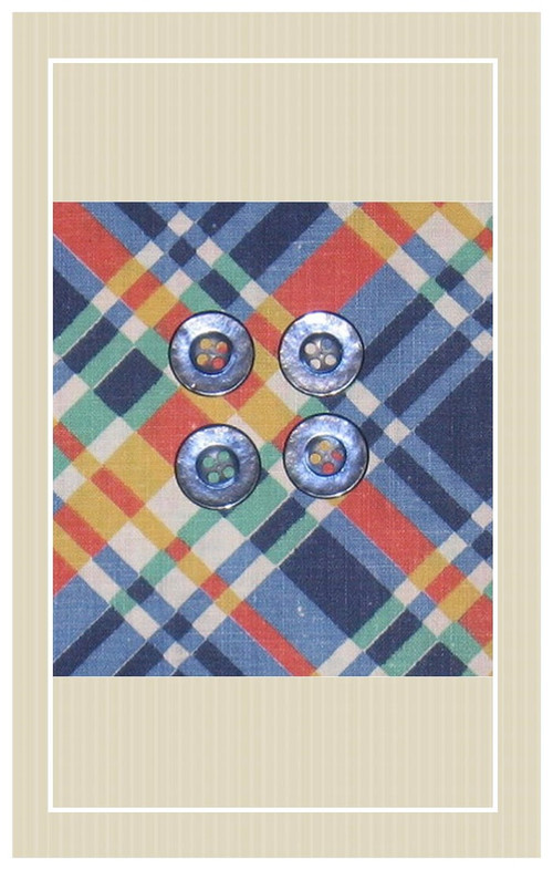 Colorful plaid doll sized sewing kit