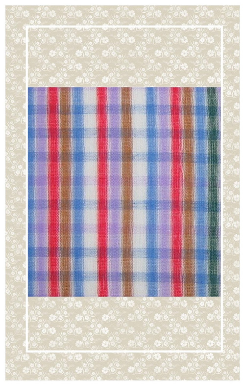 Doll scaled Swiss cotton plaid