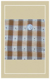 Your dolls will love whatever you sew from this pretty vintage plaid!