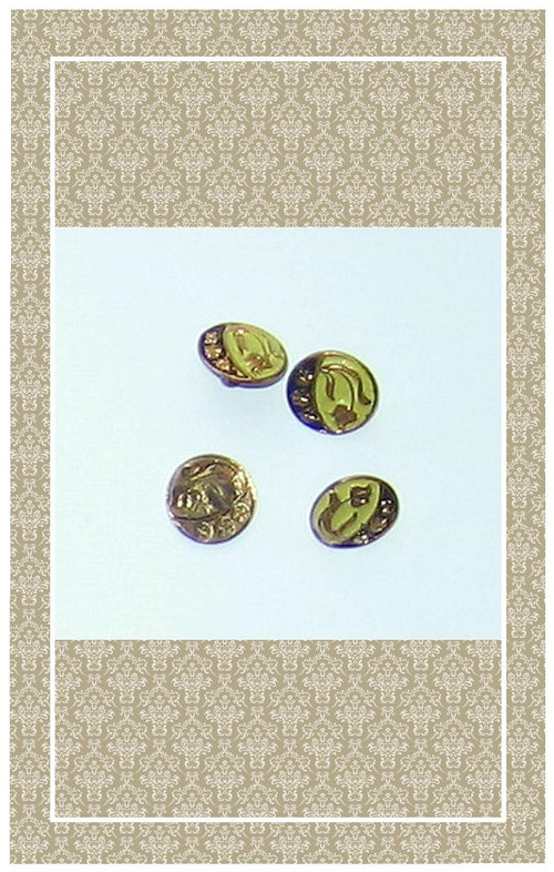 Tiny antique enameled buttons perfect for dolls