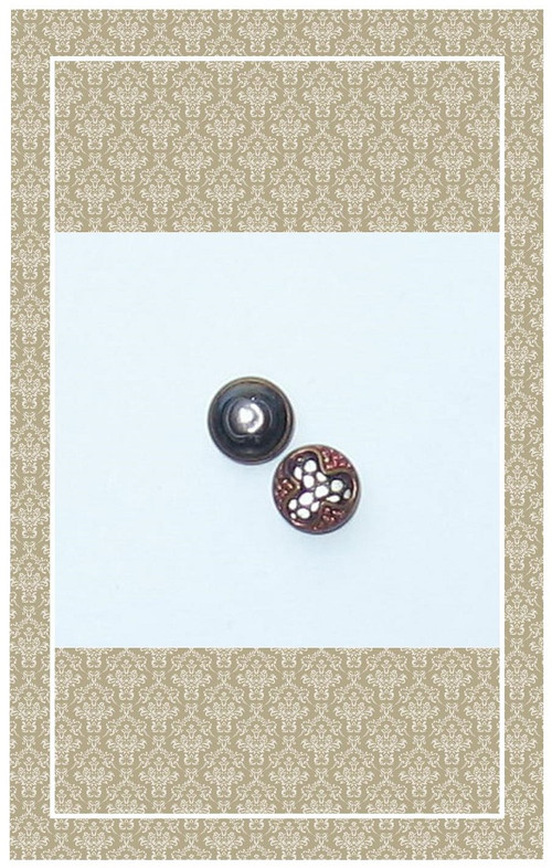 Antique brass filigree buttons scaled for dolls