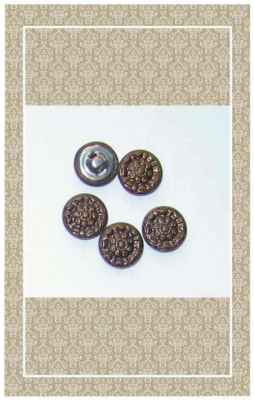 Antique brass doll scaled buttons