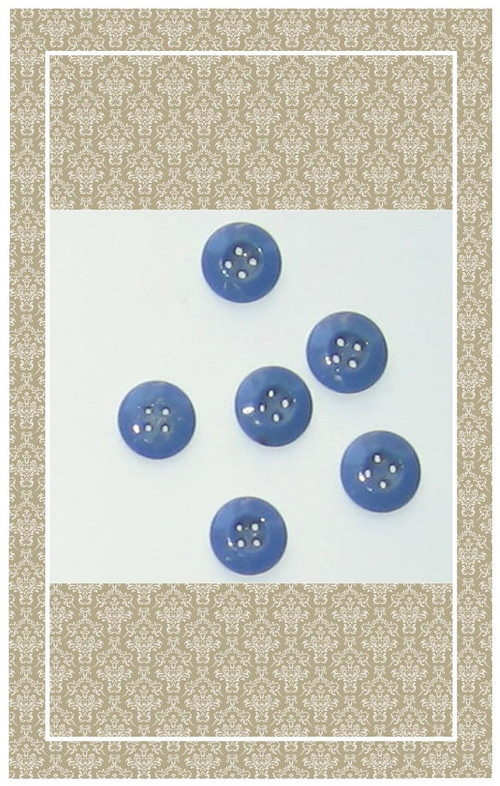 Antique blue glass doll scaled buttons