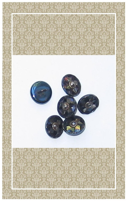 Doll scaled antique cut steel buttons