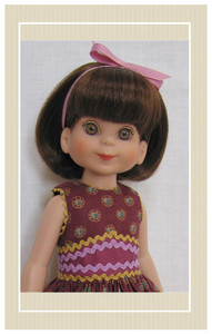 "Betsy McCall's sundress sewing kit sized for 14"" dolls"