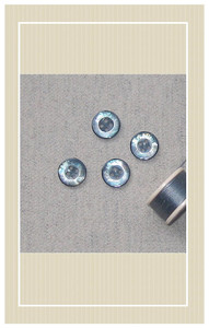 Vintage wool with smoke blue buttons doll sized sewing kit
