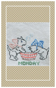 What could be more cute than miniature Days of the Week towels?