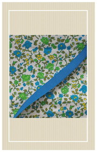 Beautiful blue and green doll scaled textile coordinates