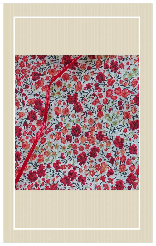Pretty floral lawn and antique ribbon project set.