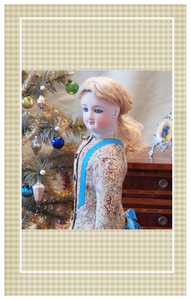 This pretty morning dress is suitable for a doll portraying a young lady of 13-14 years.