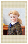 This lovely dress is suitable for a doll portraying a 14-15 year old young lady.