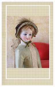 This beautiful Natural Form dress is suitable for a doll portraying a 14-15 year old young lady.