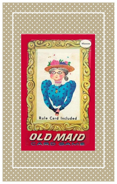 "Vintage Old Maid card game sized for 10 5/8"" Bleuette."