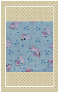 Doll scaled vintage puppy print flannel