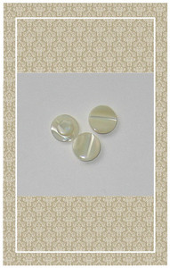Vintage doll scaled pearl buttons