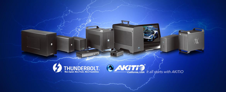 Akitio Thunderbolt series enclosure