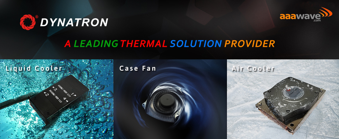 dynatron liquid cooler case fan air cooler thermal solution