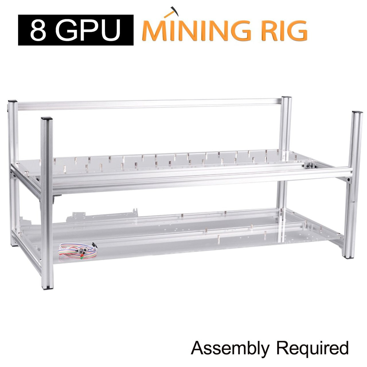 AAAwave 'THE DREDGE' 8 GPU Mining Rig Frame - Stackable Open Frame