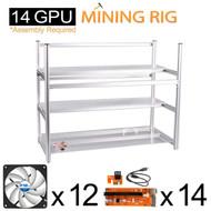 AAAwave Mining Case 14 GPU+FAN ARCTIC F12 silent Cooling ACFAN00027A by ARCTIC x 12+ PCI RISER x 14