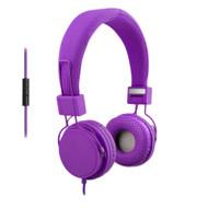 ECO ECO-V20-12244 Stereo Headphones w/ In-line Mic - Purple