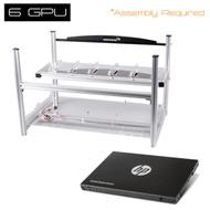 "AAAwave 6GPU Open Frame Mining Case  + HP SSD S700 2.5"" 120GB SATA III"