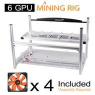 AAAwave 6 GPU Mining Case + 4x AAAwave 2100 rpm fan